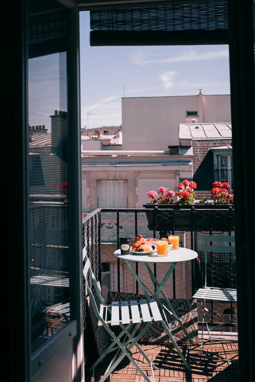 photo of breakfast on terrace